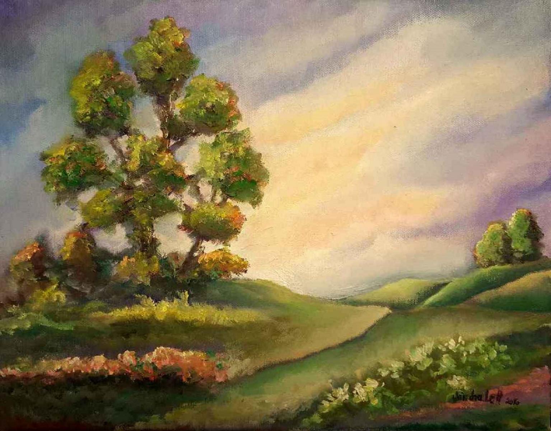 "Landscape Oil 14""X11"" Oil on Canvas"