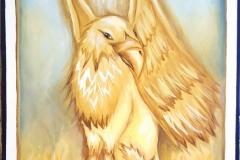 """Gryphon RMHS Mascot 24""""X30"""" Acrylic on Canvas"""
