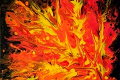 """Flames I 12""""X12"""" Acrylic on Canvas for Sale"""