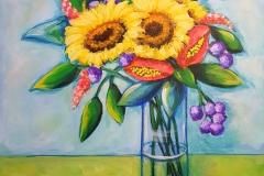 "Sunkissed 20""X20"" Acrylic on Canvas"