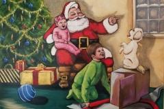 """Old Fashioned Santa 20""""X16"""" Acrylic on Canvas"""